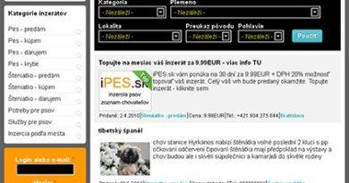 Predstavenie iPES.sk - inzercie psov a šteniatok