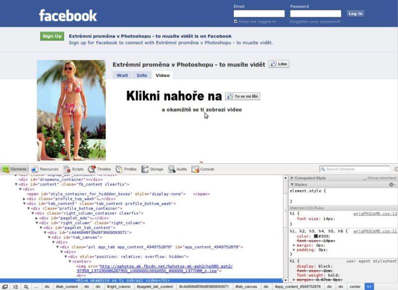 Zobrazenie kódu webstránky v chrome