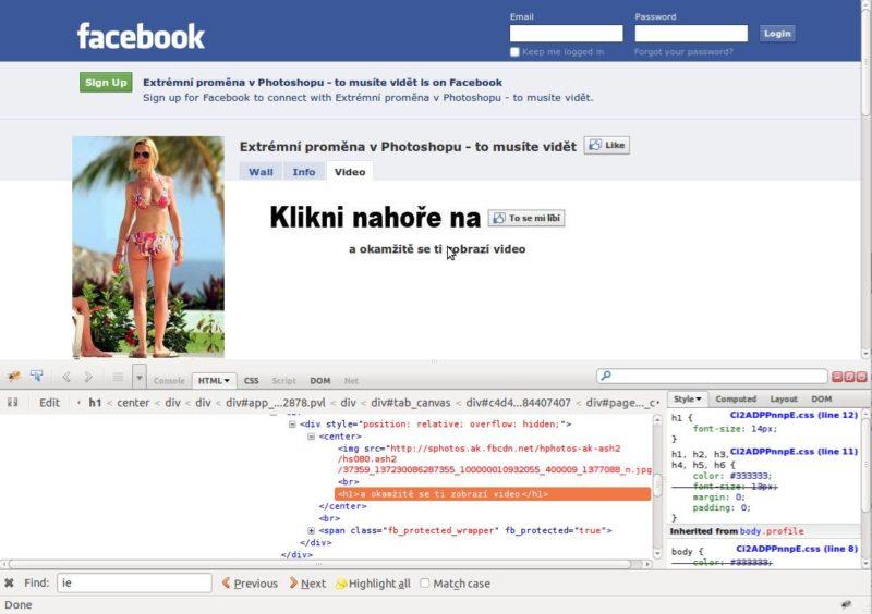 Zobrazenie kódu webstránky vo firefoxe