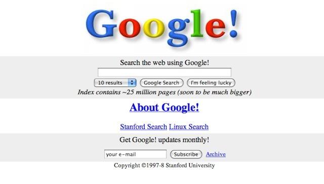 Google v 1998