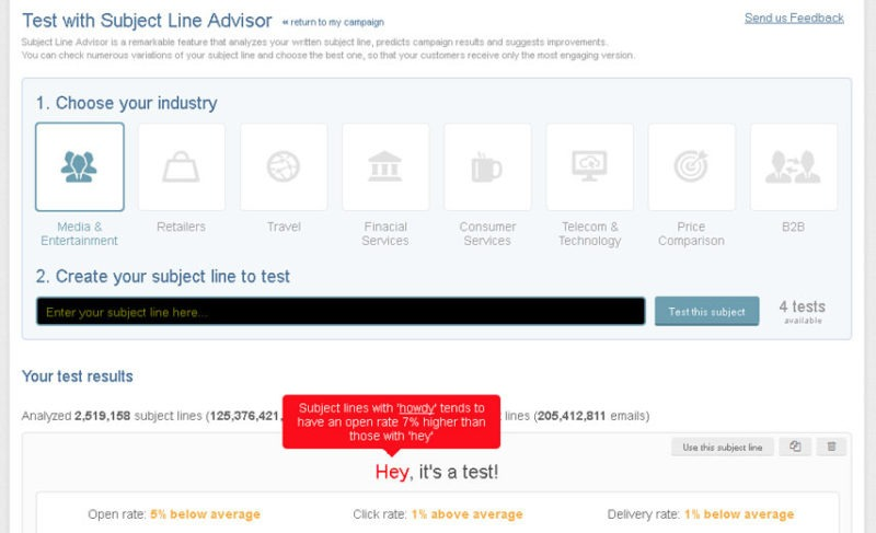 Subject Line Advisor