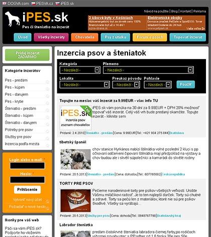 iPES.sk - inzercia psov